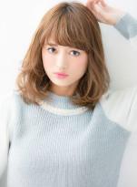 ラフなパーマ質感で大人カジュアルミディ☆