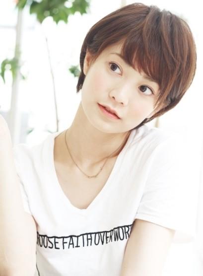大人カジュアル☆小顔ノーブルショート(髪型ベリーショート)