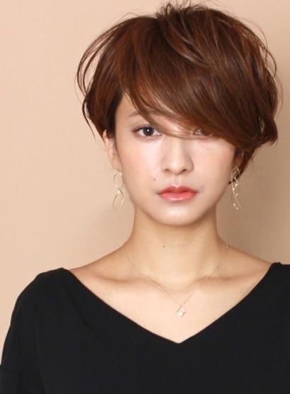 ラフでカジュアル☆大人のレイヤーショート(髪型ショートヘア)