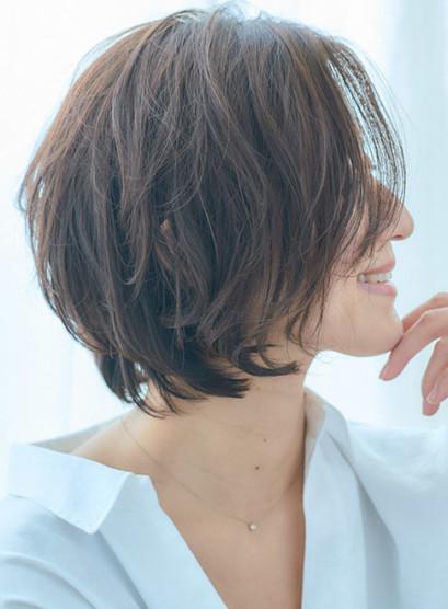 30代40代ラフニュアンスなショートボブ(髪型ボブ)