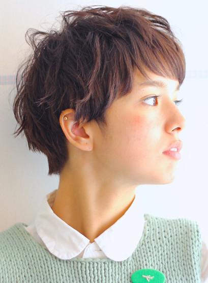 大人カジュアルベリーショートヘア(髪型ベリーショート)