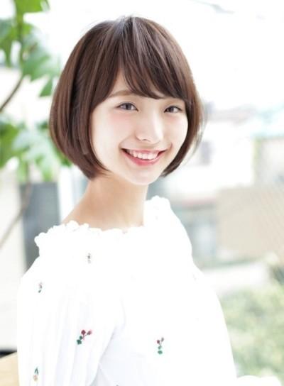 丸顔さん☆新垣結衣【ひし形】ショートボブ
