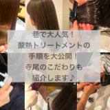 巷で大人気の髪質改善ヘアエステ(酸熱トリートメント)の手順を公開!