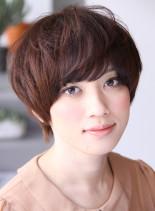 ガーリーマッシュショート(髪型ショートヘア)