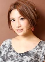 フェミニン・ショートボブ(髪型ボブ)