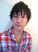絶妙なバランスの王道ショートレイヤー(髪型メンズ)