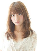 ピュアストレート(髪型ミディアム)