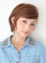 サイドパートマッシュボブ(髪型ショートヘア)