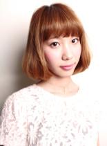 ツヤ髪重めスウィートボブ(髪型ボブ)
