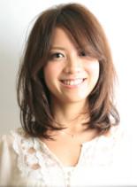 オーガニックミディアム(髪型ミディアム)