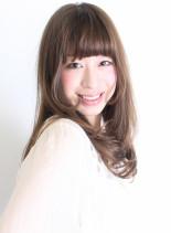 大人カジュアルレイヤー(髪型ロング)