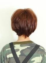 ナチュラルゆるふわショートヘア(髪型ショートヘア)