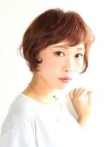 ナチュラルカールのショートスタイル(髪型ショートヘア)