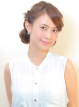 レトロツイストロールアップ(髪型ロング)