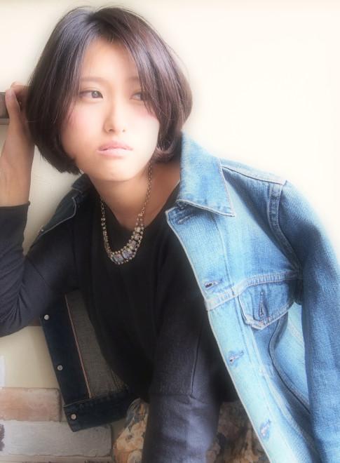 【外国人風ドライカット】黒髪ふわショート(ビューティーナビ)