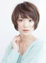 大人可愛いシンプルショートスタイル(髪型ショートヘア)