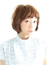 ナチュラルショ−トのショートボブ(髪型ボブ)