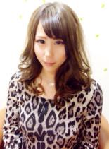 簡単巻き髪スタイル(髪型セミロング)