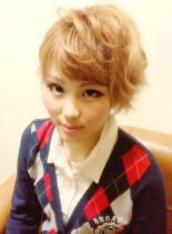 マニッシュボブ(髪型ショートヘア)