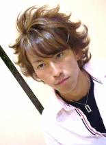 ミディアムエアーカット(髪型メンズ)