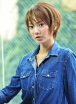 夏へばっさりガーリーショート(髪型ショートヘア)