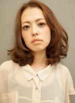 のばしかけにも☆ナチュラルセミディ(髪型ミディアム)