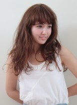 ジェーン・バーキン風ナチュラルウェーブ(髪型ロング)