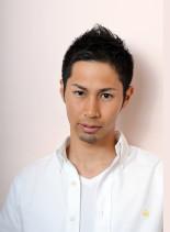 ブラックショート(髪型メンズ)