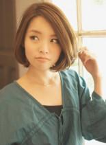 ひし形フォルムの大人可愛いバルーンボブ☆(髪型ボブ)