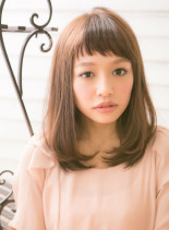 ガーリーナチュラルミディアム(髪型ミディアム)