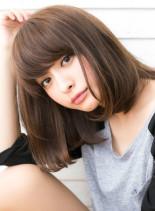 素髪・ツヤと透明感ナチュラルルーズボブ(髪型ミディアム)
