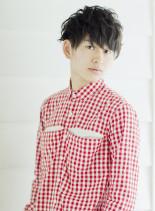 2ブロックナチュ束ショート(髪型メンズ)