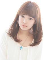 ピュアストレート(髪型セミロング)