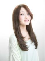 王道ストレ-ト×ウォ-ムブラウン(髪型ロング)