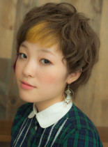2色なMile end SHORT(髪型ショートヘア)