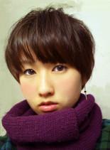 マッシュルームカット(髪型ショートヘア)