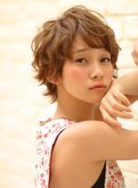 ふわクシャ☆マッシュ☆ニュアンスパーマ(髪型ショートヘア)