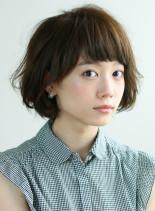 ほんのりモード☆短め前髪ボブ(髪型ボブ)