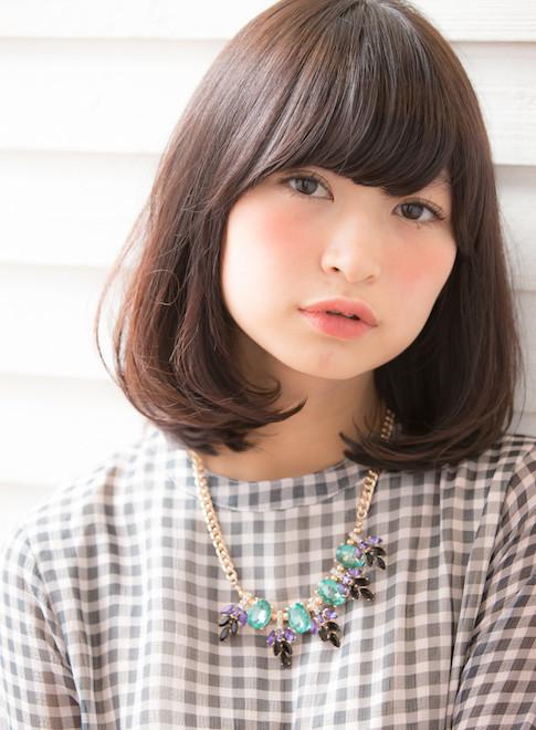 黒髪、暗髪も似合うワンカールボブディ☆(髪型ミディアム)(ビューティー