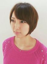 コンパクトボブ(髪型ショートヘア)
