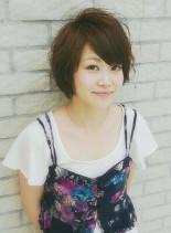 ゆるふわボブ(髪型ショートヘア)