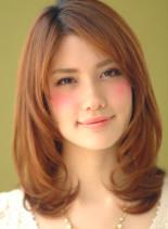 ふんわりCカール×スウィートリラックス(髪型ミディアム)