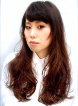 人気☆海外風カラーでロングに遊びを☆(髪型ロング)