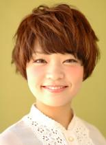 クシュ質感ショートヘア(髪型ショートヘア)