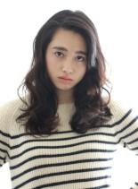 かきあげウェーブスタイル(髪型ロング)
