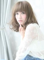 小顔×愛されミディ(髪型ミディアム)