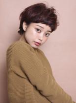 マニッシュカールショート(髪型ショートヘア)