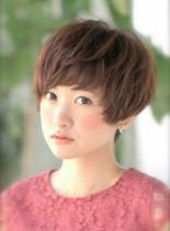 ☆マニッシュショート×プラチナカラー☆(髪型ショートヘア)