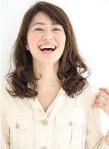 井川遥さん風☆大人揺れミディアムロング(髪型セミロング)