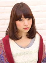 春のルカール×アプリコットブラウン(髪型ミディアム)
